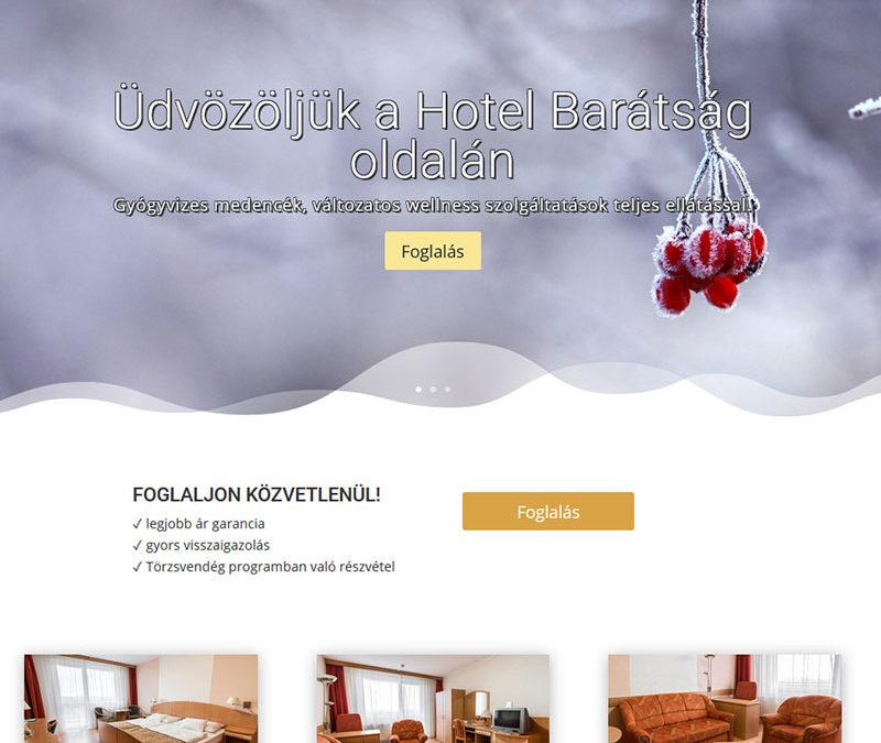 Weboldal készítés Hotel Barátság Hajdúszoboszló részére