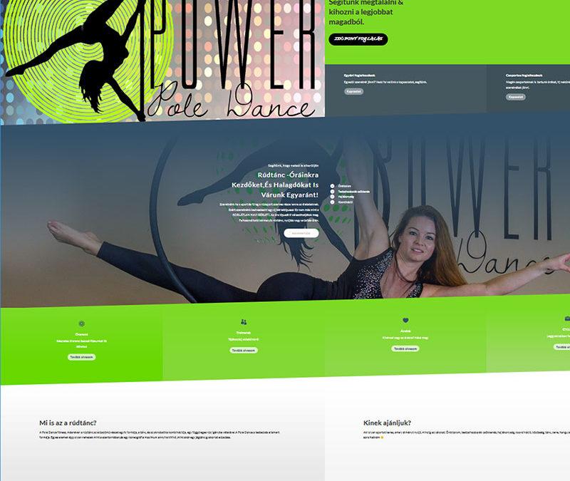 Weboldal készítés Rúdsport & Légtorna Stúdió részére