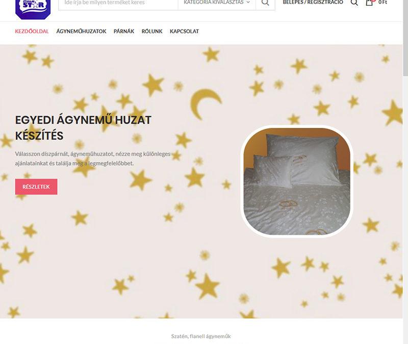 Webáruház készítés Ágyneműhuzat webáruház részére