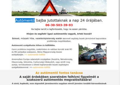 Weboldal készítés Non-stop autómentés részére