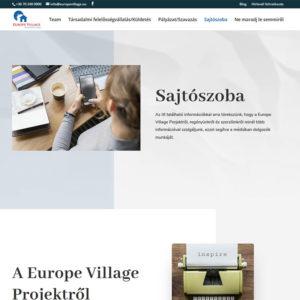europe village bemutatkozo oldal asztali pc