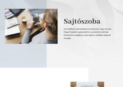 Weblap készítés Europe Village részére