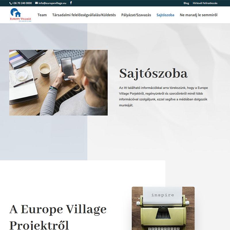 többnyelvű weboldal