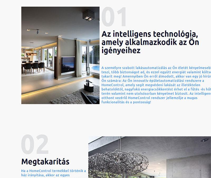 Weboldal készítés Intelligens Otthon részére