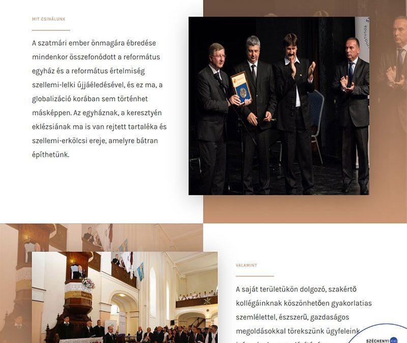 Honlapkészítés Reformátusok Szatmárért Közhasznú Egyesület részére