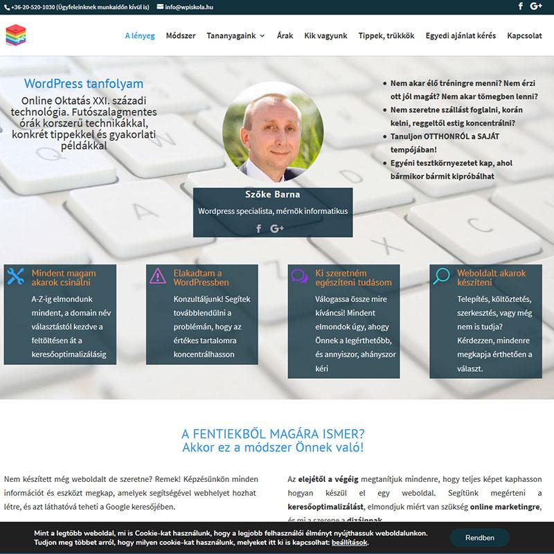 Céges honlap