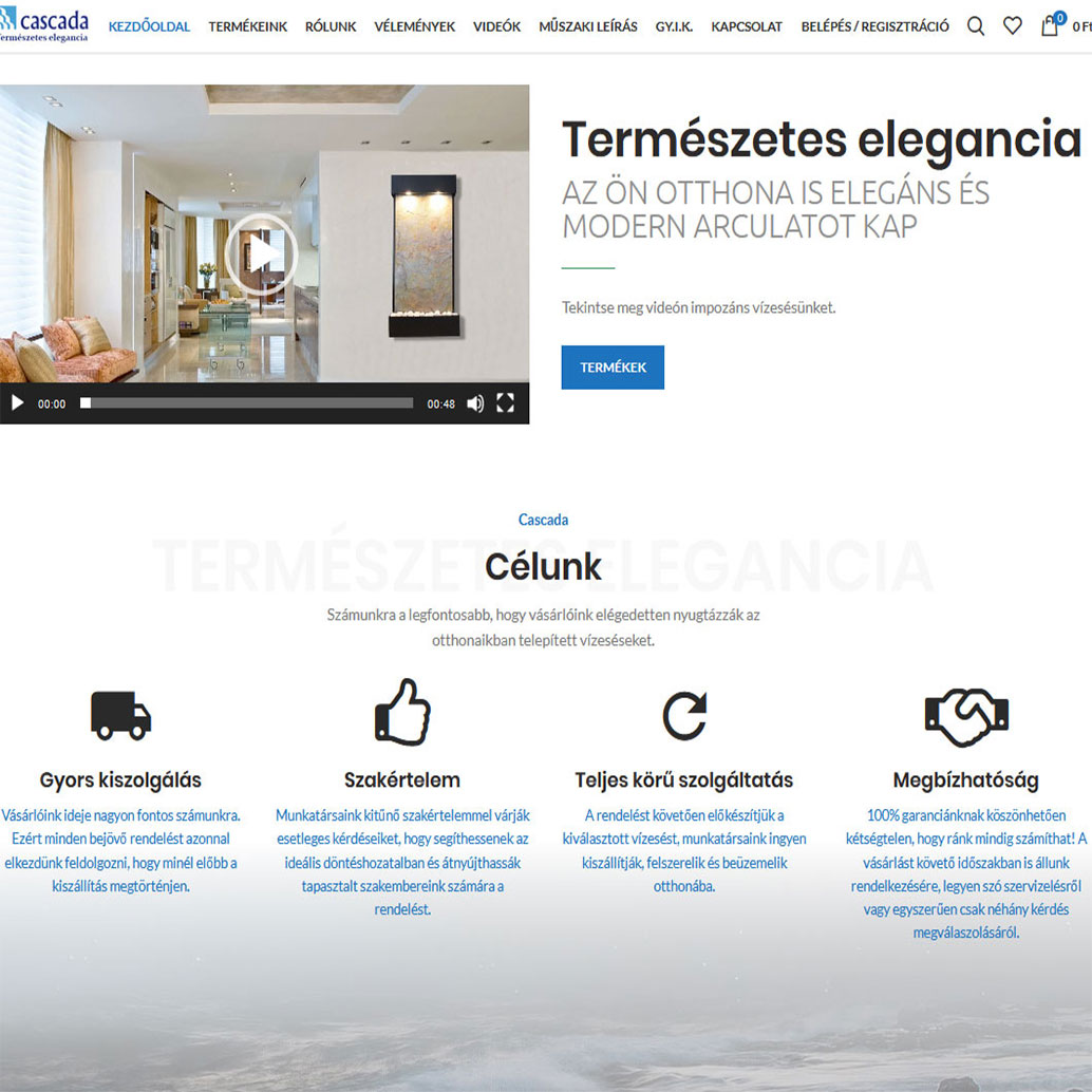 bemutatkozó weboldal, Egyedi dizájn, Mobilra optimalizált weboldal